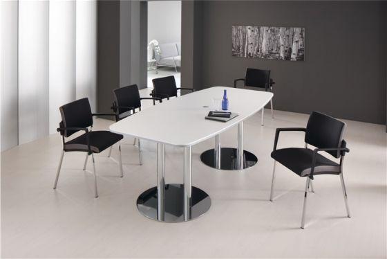 Konferenztisch B2200xT1030xH745 m.verchromten Tischfüßen
